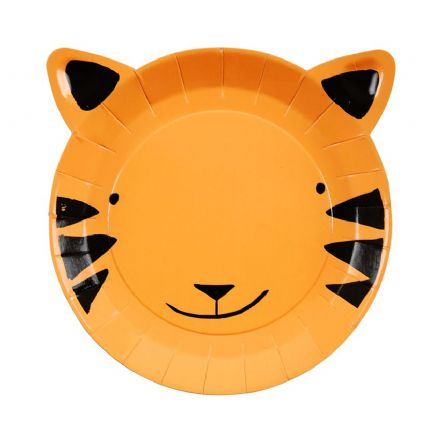 Meri Meri Go Wild Jungle Party Tiger Plates